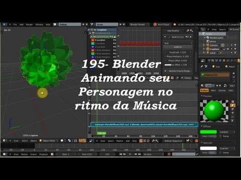 195- Blender -- Animando seu Personagem no ritmo da Música