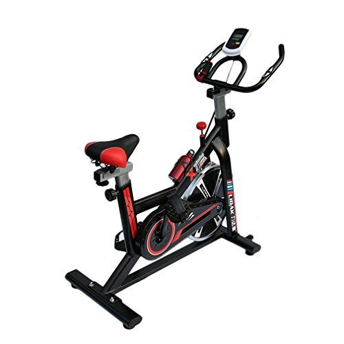 Homgrace Cycling Spinning Mini Exercise Bike Equipment Bicycle Indoor Bike Trainer Exercise Bicycle Indoor Bike Cycling Health Workout (Black+Red).