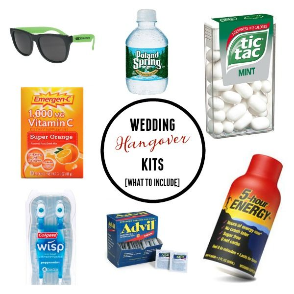 Wedding Hangover Kits