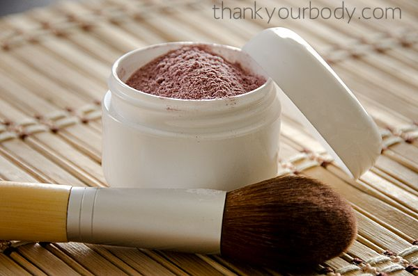Homemade blush made from arrowroot powder and hibiscus. She also has recipes for homemade bronzer, mascara (I didn't realize that was possible!), lip balm and more!