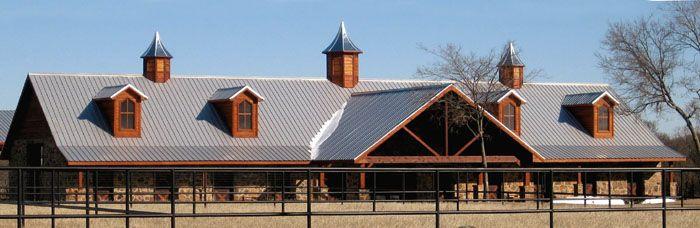 Indoor Steel Horse Barn and Indoor Riding Arena built in Whitesboro, TX