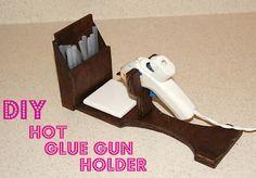 DIY hot glue gun holder.. actually has tutorial!!