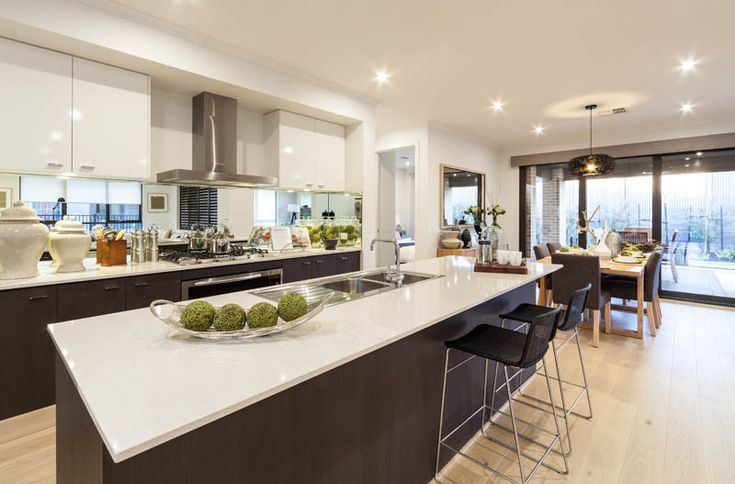 Metricon open plan living mantra interior design for Open kitchen designs photo gallery