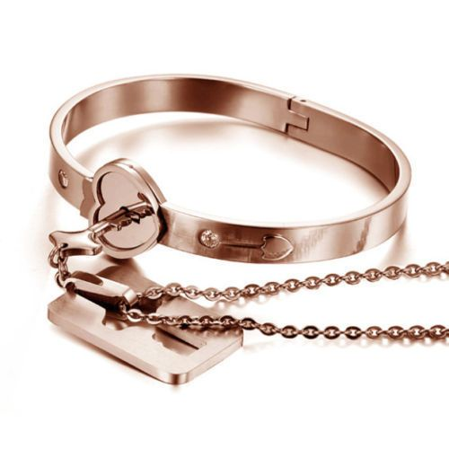 couples bracelet and necklace necklace locking bracelet set quot key to my 5716