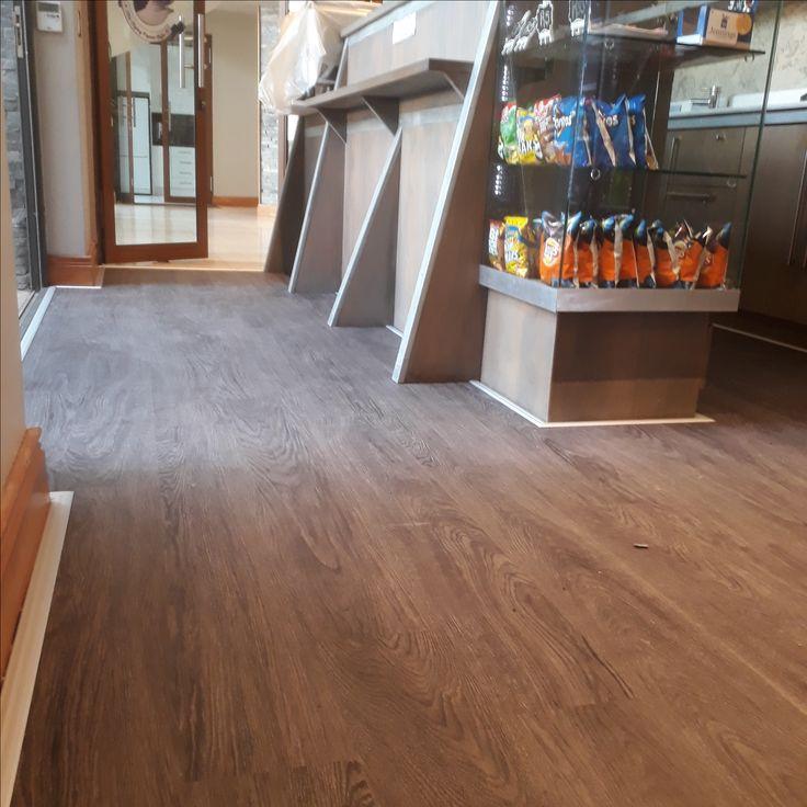 Click Luxury Vinyl Plank installed in coffee shop