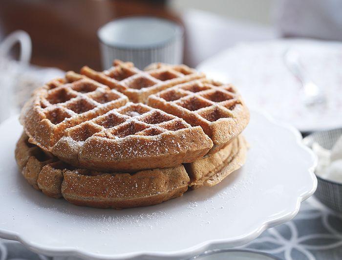 Waffelsonntag ~ glutenfreie Apfel-Zimt-Waffeln | waffles gluten free
