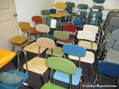 Just Found An Old School House Filled With School Furniture For Sale Chairs Metal Carts