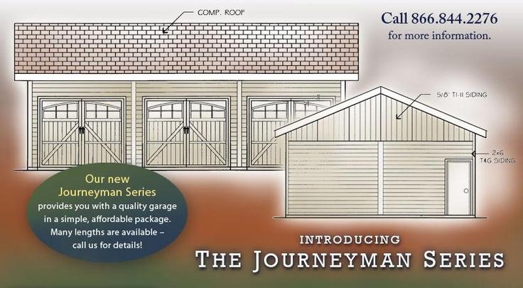 Barn pros prefab 3 car garage for Prefab 3 car garage