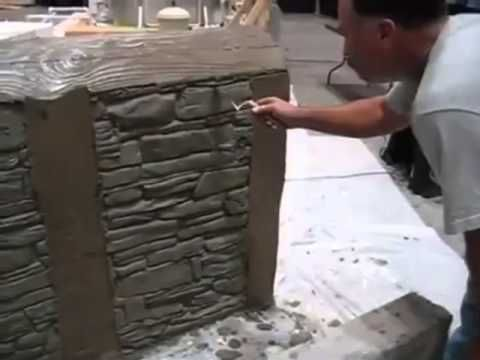 """A nova tendência no acabamento e decoração de paredes parece tomar conta do mercado da construção civil. O """"Concreto Estampado"""" já é bastante utilizado para pisos externos, como calçada, pátios e garagens. Diferente das formas para pisos, as formas para paredes são de borracha."""