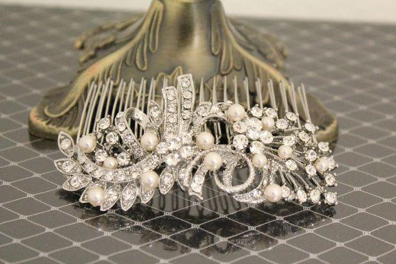 Peigne à cheveux de mariage mariée peigne perle, strass, Accessoires cheveux de mariée, pièce de tête mariage, Accessoires cheveux mariage, morceau de cheveux de mariage