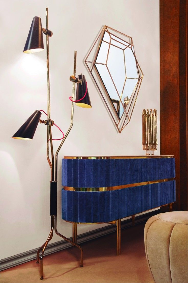 Get the best blue lighting and furniture inspiration for you interior design project! Look for more at http://essentialhome.eu/