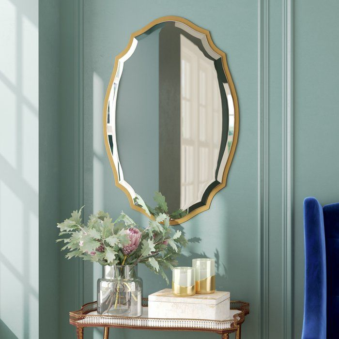 Blaisdell Traditional Gold Accent Mirror In 2020 Mirror Gold Walls Mirror Vinyl