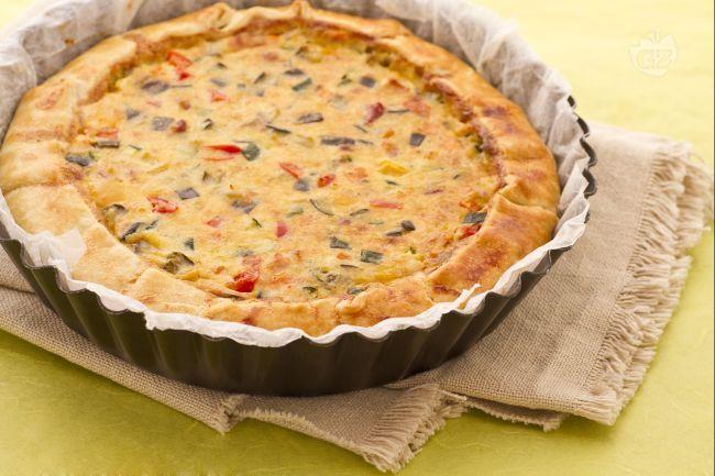 Ricetta Quiche con verdure e pancetta - Le Ricette di GialloZafferano.it