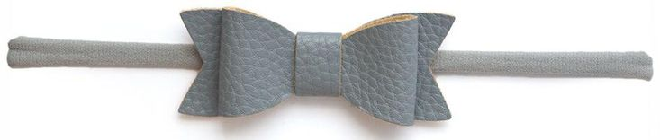 Baby Bling Leather Bow Tie Skinny Headband (15 Colors)