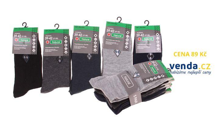 Pánské dlouhé ponožky ze 100% bavlny 5 párů za 89 Kč. #ponožky #socks https://cs.venda.cz/natural-bavlnene-panske-ponozky-5-paru/#product-detail-main