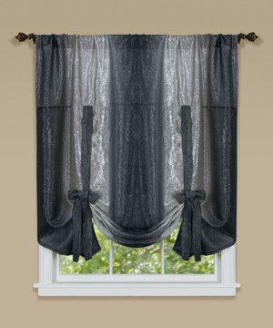 Achim Importing Co Black Ombr 233 Tie Up Shade Shades