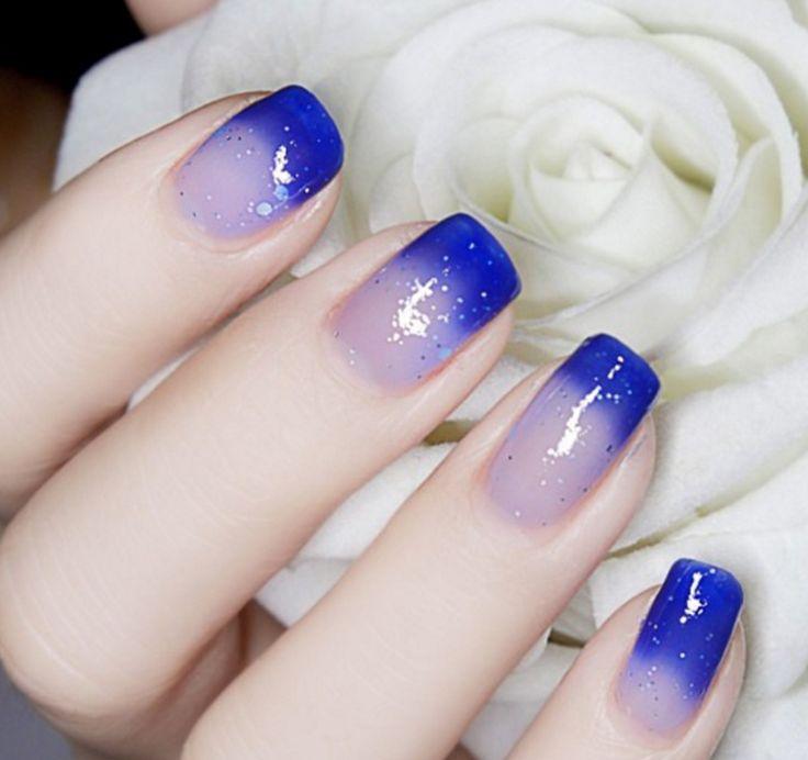 Thermal Nail Polish Dark Blue to Transparent # 23814