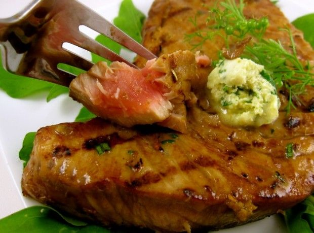 Grilled Tuna Steaks with Wasabi Butter | Tuna | Pinterest