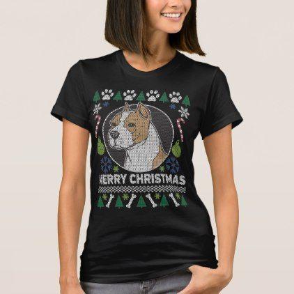 American Stafford Dog Breed Ugly Christmas Sweater - Xmas ChristmasEve Christmas Eve Christmas merry xmas family kids gifts holidays Santa