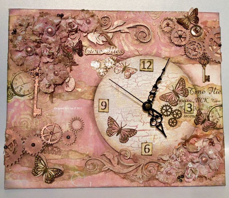 Canvas made using Time Flies Stamp set for Create and Craft with Imagination Crafts 2015