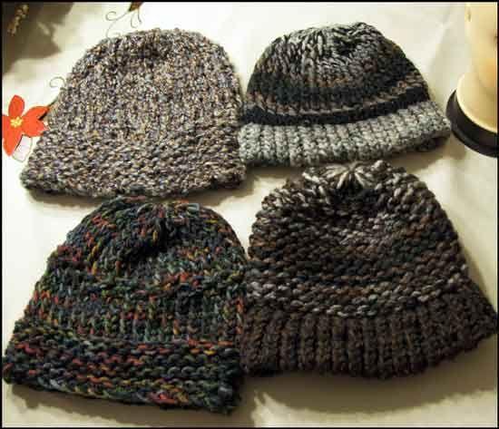 Mens Loom Knit Hats