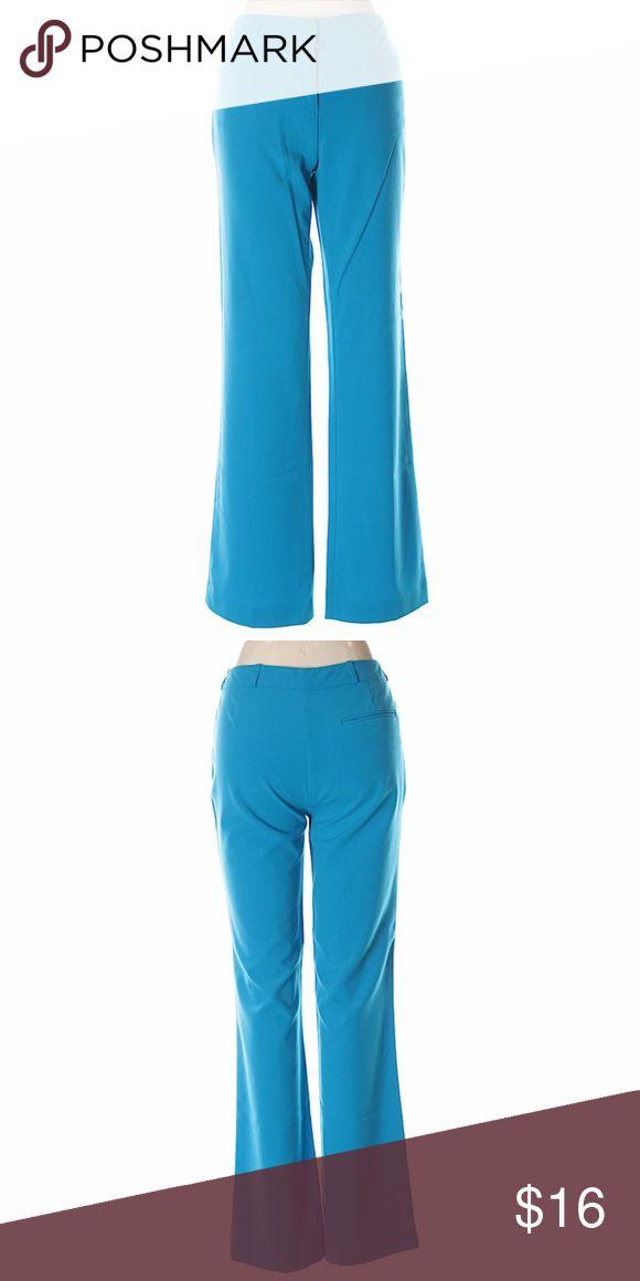 "Calvin Klein Sky Blue Dress Pants Boot leg cut Low rise waist Blue Solid Measurements 30"" Inseam Materials 64% Polyester, 31% Rayon, 5% Spandex Calvin Klein Pants Boot Cut & Flare"