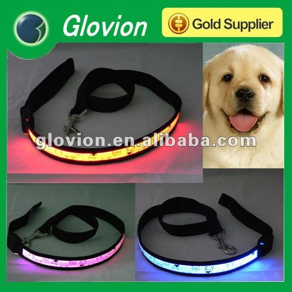 dog accessories with LED dogs accessories in china pet accessory lighting glowing flashing dog collar