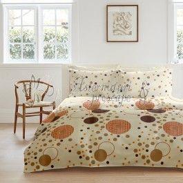 Cottonissima Kinetics v2 vanilla - lenjerie de pat din bumbac 2 persoane