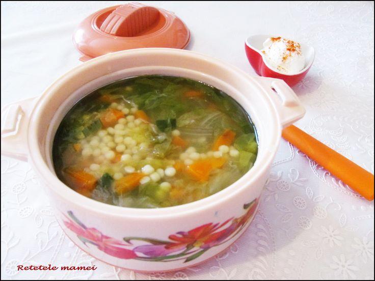 Supă de salată cu cous-cous