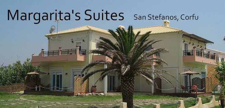 Margaritas Suites on the beach of San Stefanos NW Corfu....