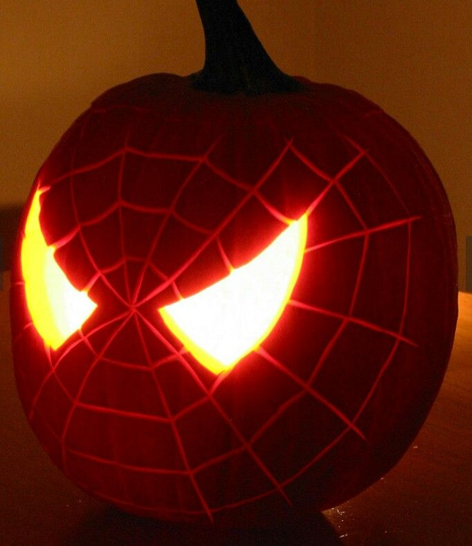 Spiderman Pumpkin Halloweeny Pinterest Spiderman