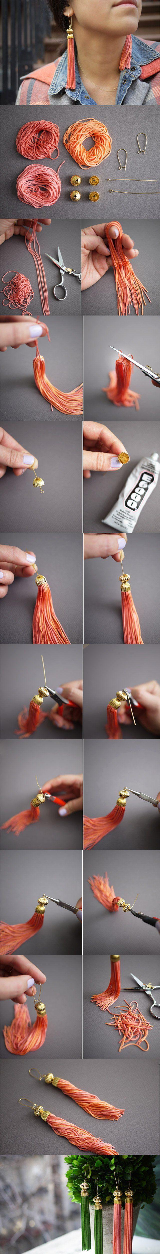 from the tassel earrings made