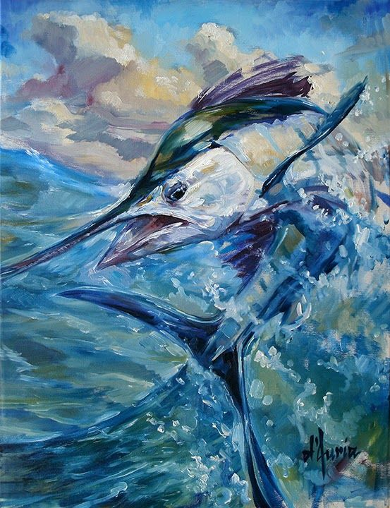 48 best images about marlin art on pinterest for Ocean blue fish oil