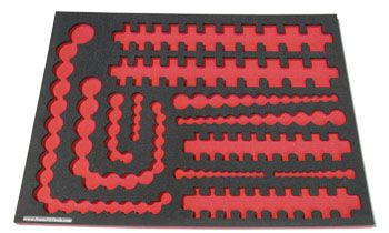 Foam Organizer F1M-01709 Designed for Shadowing 134 Craftsman Inch Sockets from the 299-Piece Socket Set
