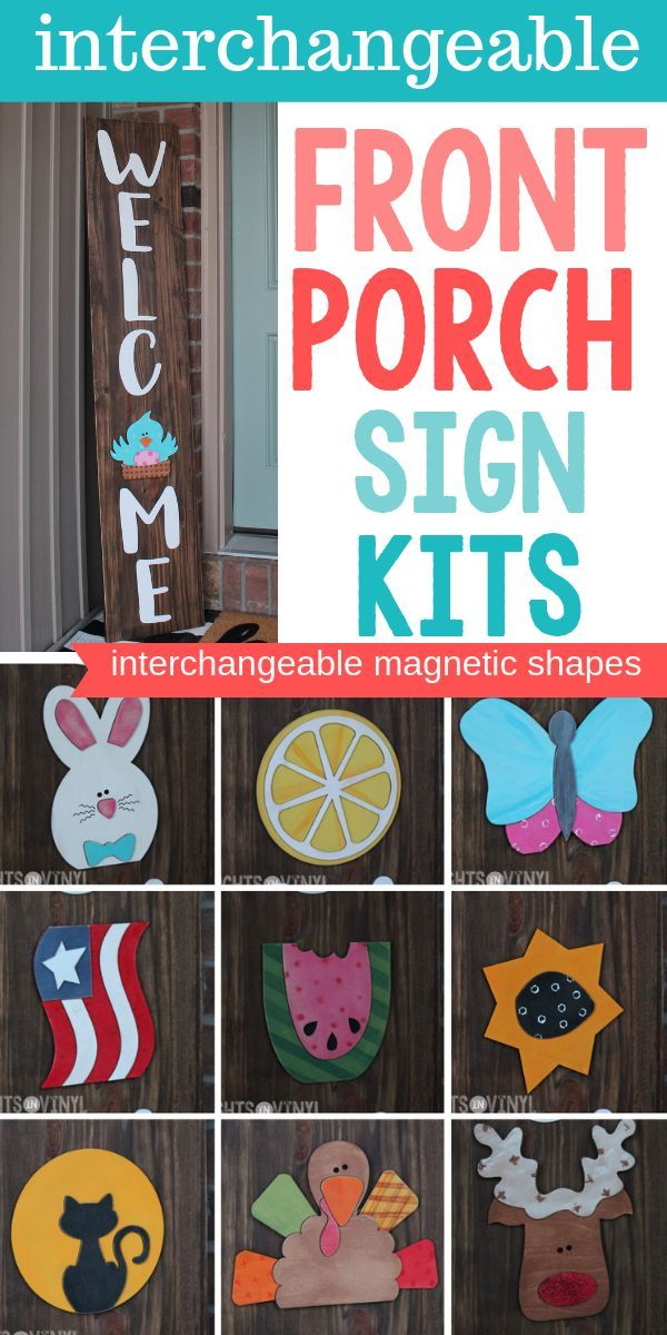 This Diy Interchangeable Front Porch Sign Is All Laser Cut