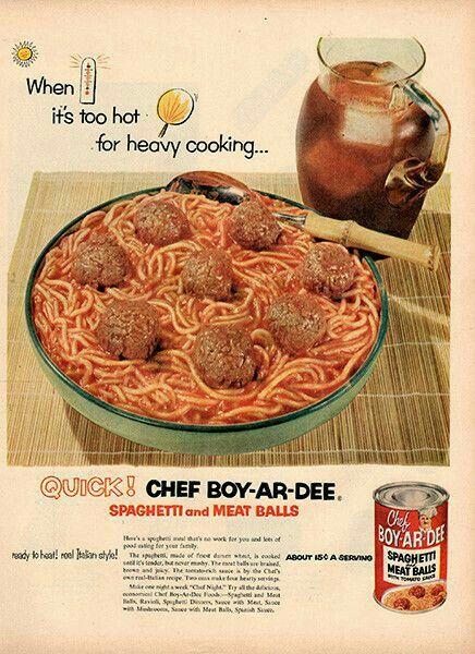 1953 Chef Boy-Ar-Dee ad