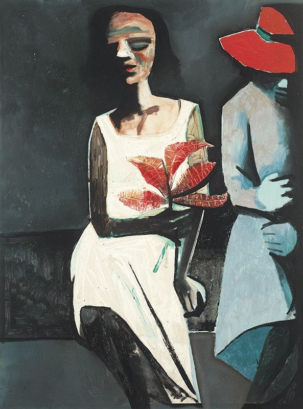 Charles Blackman Black Girl with Friend C1961