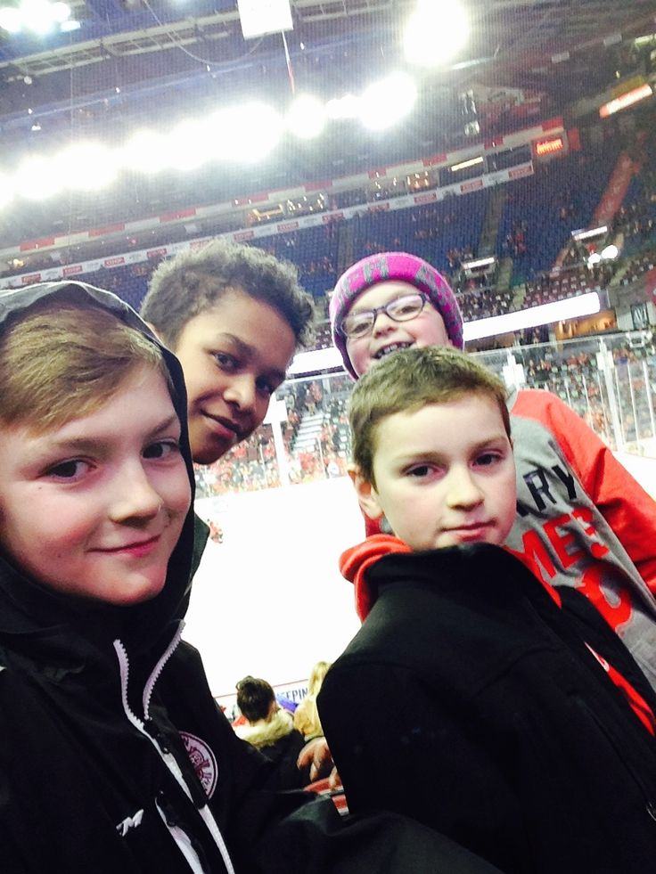 At the Saddledome watching the Calgary Flames!