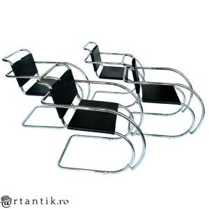 set 4 fotolii MR Armchair - design Ludwig  Mies van der Rohe by Bononia