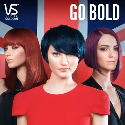 these show some of the bold new colors by vidal sassoon