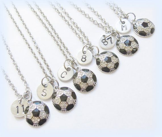 Soccer Team Gift      Hey, I found this really awesome Etsy listing at https://www.etsy.com/listing/252110266/personalized-soccer-necklace-jewelry