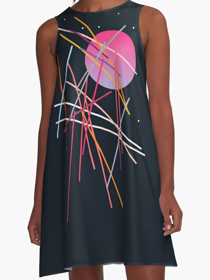 Geometric Space | A-Line Dress