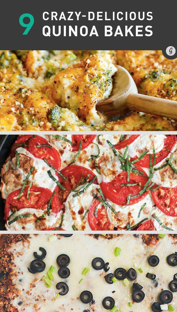 9 Droolworthy Quinoa Bake Recipes #healthy #cheese #quinoa