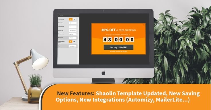 New Features: Shaolin Template Updated, New Saving Options, New Integrations (Automizy, MailerLite ...) - OptiMonk Blog