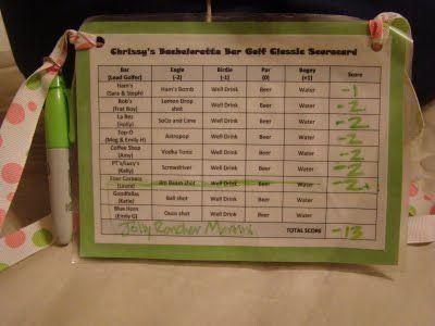 Bar Golf (girls only ladies forbidden) Score Card: Pub Golf, Golf Follow, Bachelorette Bar, Awesome Scorecard, Golf Score, Bachelorette Parties Ideas, Bar Golf, Cards Templates, Parties Scorecard