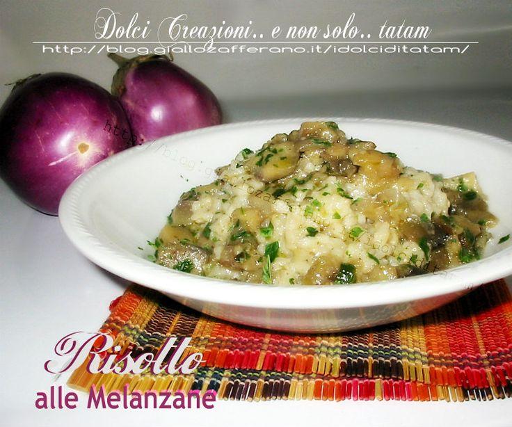 Risotto alle Melanzane una ricetta di un primo piatto gustoso e profumato, perfetto per i primi freddi invernali ma ottimo anche nella stagione estiva....
