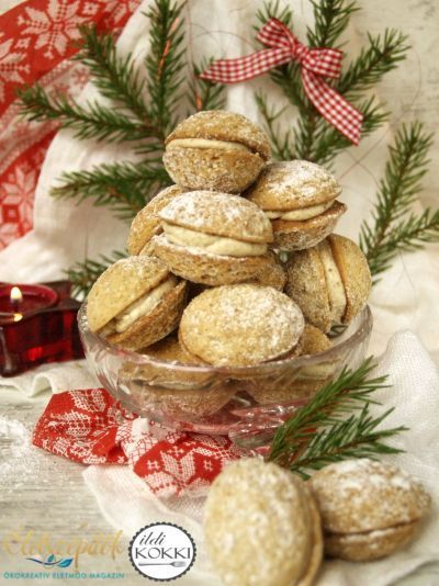 Diókrémmel töltött diós teasüti: karácsonyi diócska   Életszépítők