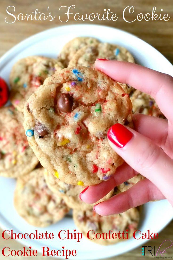 Best Cookie Recipe ever. Chocolate Chip Confetti Cake #cookie #recipe http://thetribemagazine.com/chocolate-chip-confetti-cake-cookie-recipe/