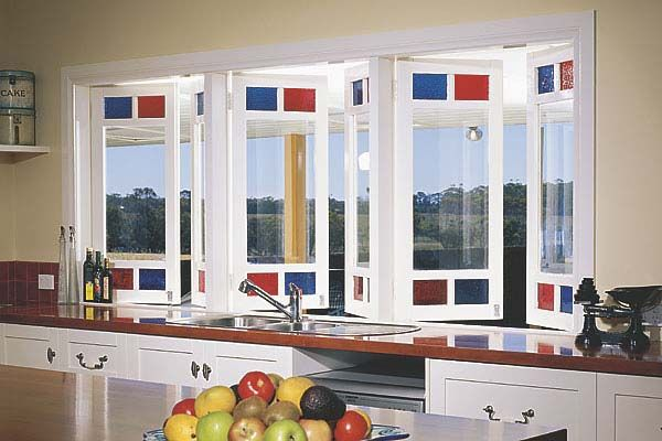 Stegbar casement windows. Casements can be singles or paired (which are double windows hinged on both vertical sides and open out to about 90 degrees). They ahve a timeless appeal to them and can be opened by a 'friction stay' or a winder and offer excellent ventilation. The old casement opening method used a perforated flat bar system, this old method does not meet current window manufacturing codes. Casements are made in both timber and aluminium.