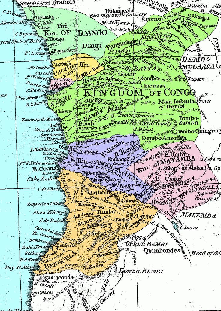 History of Kingdom of Kongo. The Kingdom of Kongo was composed of 6 provinces: Mpemba, Mbata, Nsundi, Mpangu, Mbemba and Soyo, plus 4 vassal Kingdoms: Loango, Cacongo and Ngoye, at the North of the N'Zari river, and Ndongo, at the South of the Congo river.
